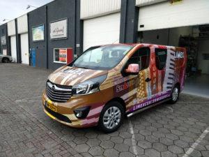 Limex center Wiegers bedrijfswagen wrapping