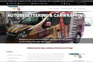 nieuwe website de haan reclame